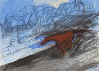 b-racehore-bolting-down-frognal-lane