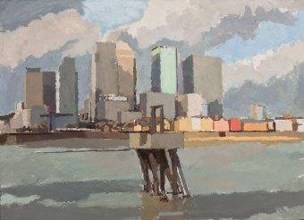 Canary-Wharf-with-Pier-(Delta-Wharf-Greenwich).-2009-2014