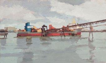 Dredger at Murphy's Wharf. 2012.