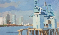 Blue-Cranes-at-Peppers-Wharf-I-2009