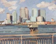 Canary-Wharf-with-railings-(Delta-Wharf-Greenwich).-2009-2014