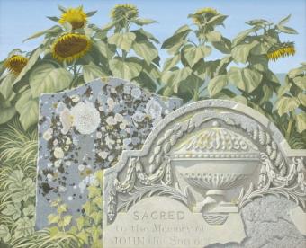 3-gravestonessunflowers-unframed