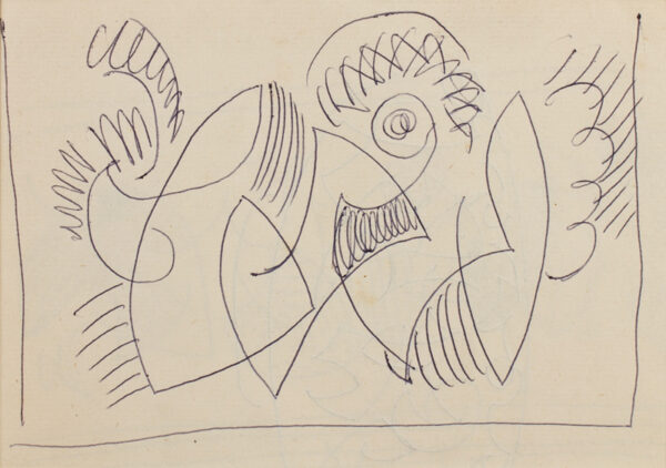 GRANT Duncan L.G. (1885-1978) - Ballpoint pen.