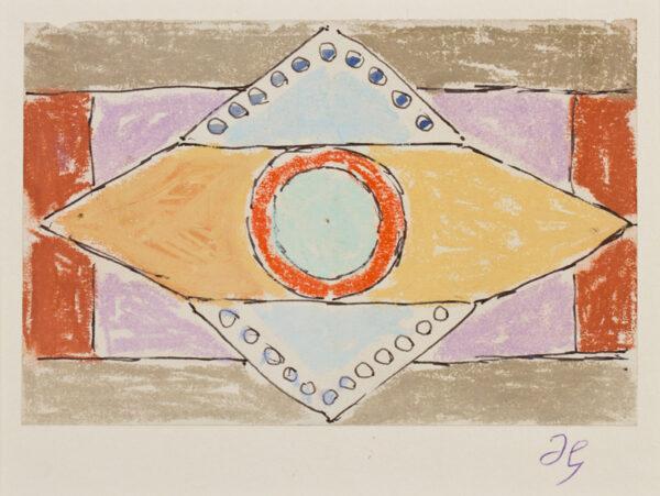 GRANT Duncan L.G. (1885-1978) - Pastel and ballpoint pen.