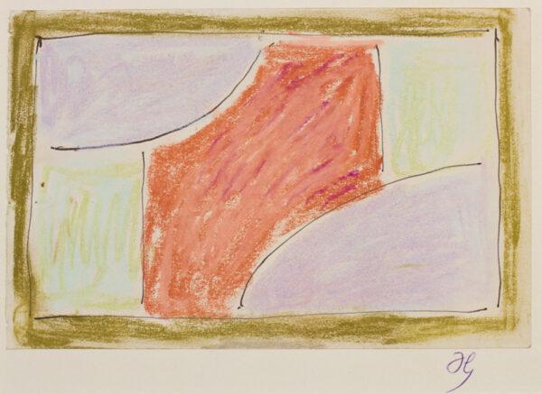 GRANT Duncan L.G. (1885-1978) - Ballpoint pen and pastel.