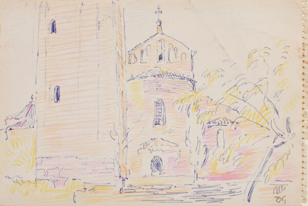 GRANT Duncan L.G. (1885-1978) - Ballpoint pen and crayon.