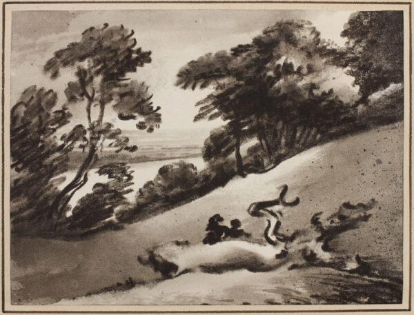 MONRO Dr Thomas (1759-1833) - Lake through trees.