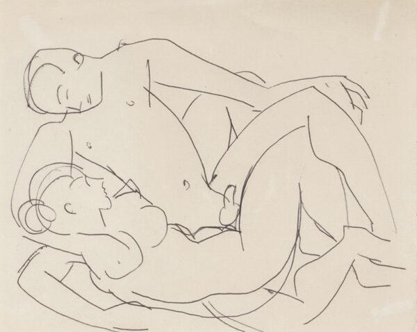 GRANT Duncan L.G. (1885-1978) - Lovers.
