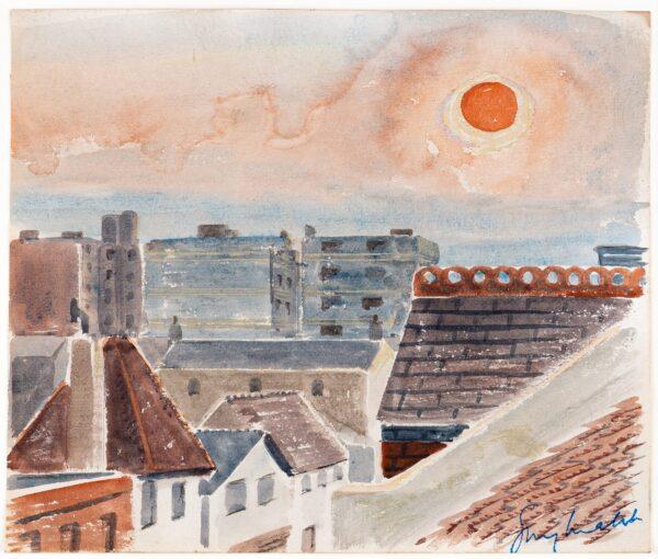 MALET Guy Seymour Warre (1900-1973) - 'February Sunset / Holland Park Road'.
