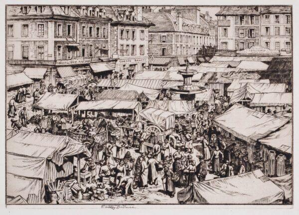 ANDERSON Stanley C.B.E. R.A. R.E. (1884-1966) - 'Le Marche, Falaise'.