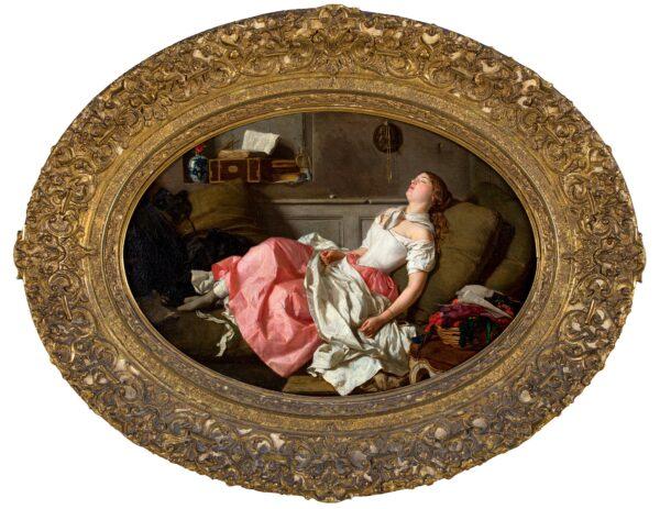 BERANGER Jean Baptiste Antoine Emile (1814-1883) - 'Le Lendemain du Bal'.