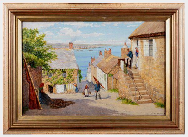 CARRICK John Mulcaster (1833-1896) - Penzance from Newlyn.