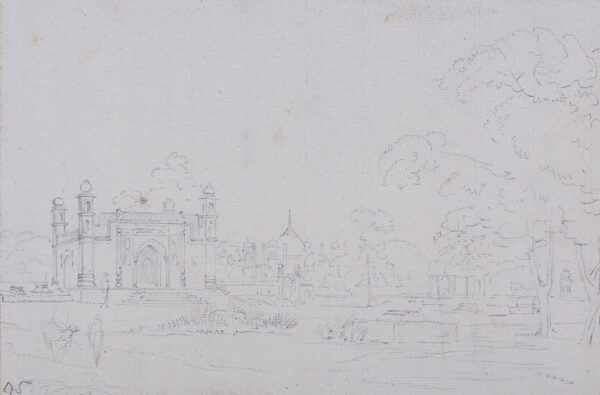 DANIELL William R.A. (1769-1837) - Study of Mosque, India.