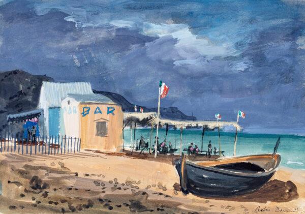 DARWIN Sir Robin R.A. N.E.A.C (1910-1974) - Italian Beach Bar.