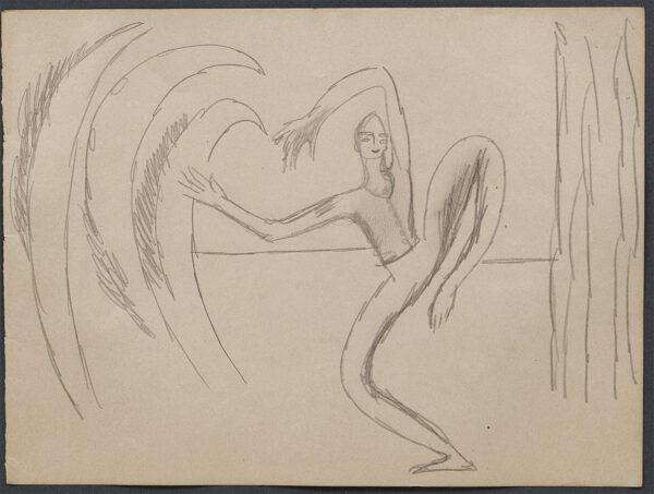 GRANT Duncan (1885-1978) - Ballet Russe dancer on stage.