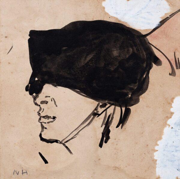HAMNETT Nina (1890-1956) - A Black Hat.