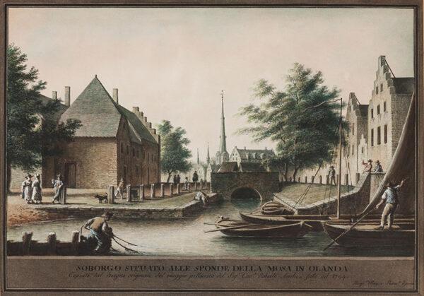 MAYER Luigi (1755-1803) - On the Meuse, Holland.