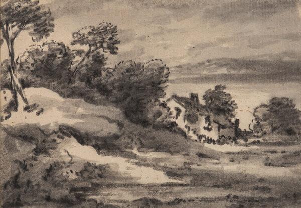 MONRO Dr Thomas (1759-1833) - Cottage and scrubland.