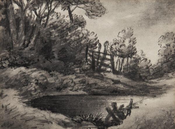 MONRO Dr Thomas (1759-1833) - Village pond and gate.
