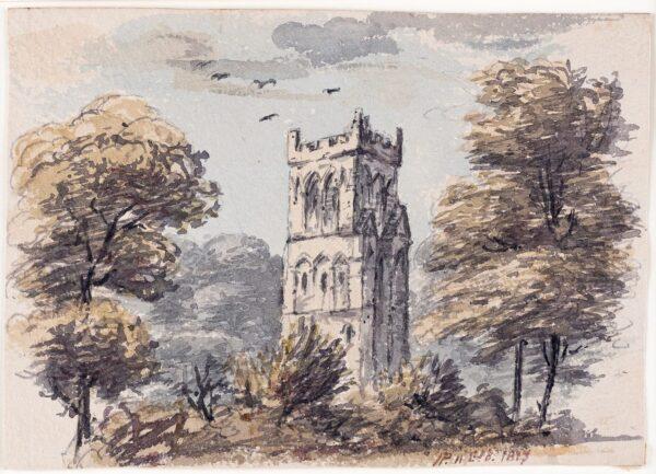 PRINSEP James (1799-1840) - A Church Tower.