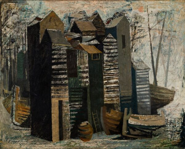 TISDALL Hans (1910-1997) - Hastings; the fisherman's huts.