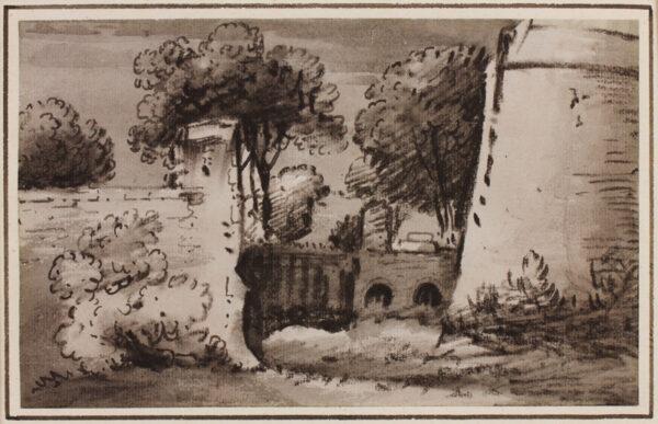 MONRO Dr Thomas (1759-1833) - Wall and trees.