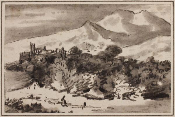 MONRO Dr Thomas (1759-1833) - Wood beneath mountains.