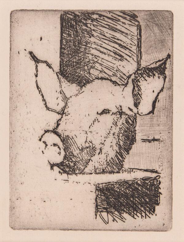 UGLOW Euan (1932-2000) - 'Pig's Head'.