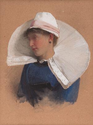 Carlton Alfred Smith R.I. R.O.I. (1853-1946) - 'Study of a Head'.