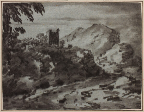 MONRO Dr Thomas (1759-1833) - Castle above river.