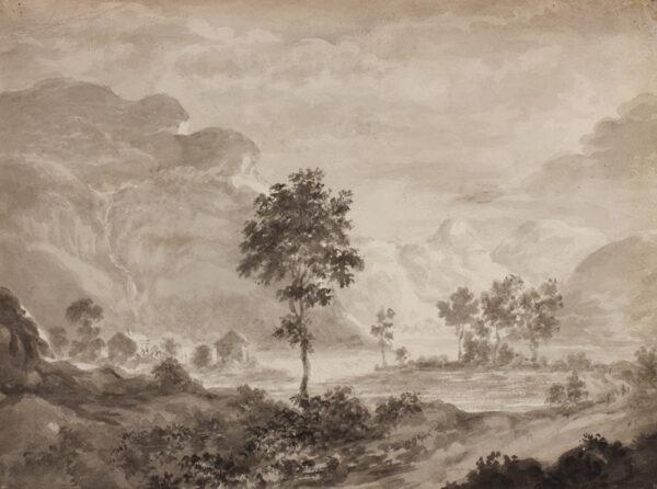 LAKE DISTRICT - Six anonymous watercolour views c.