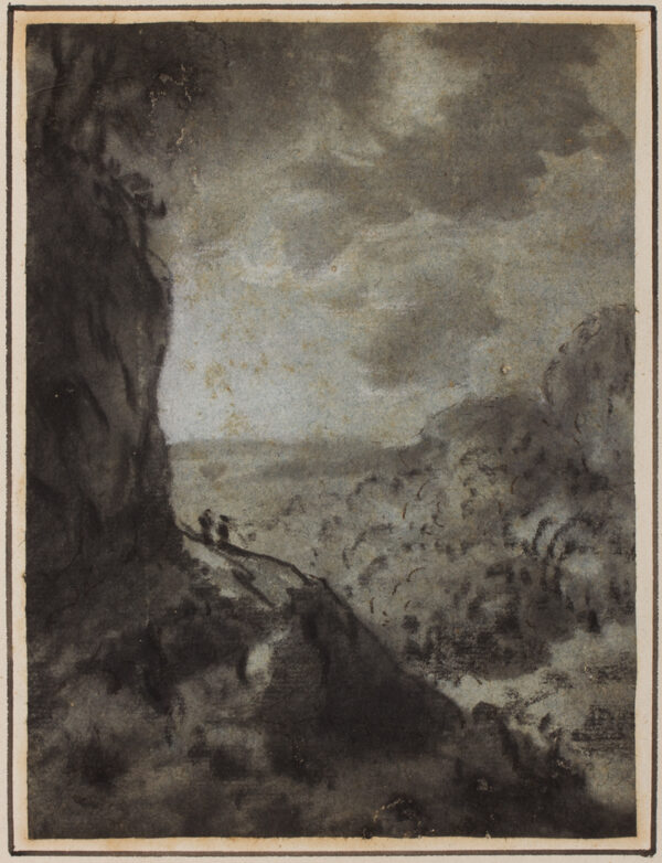 MONRO Dr Thomas (1759-1833) - Two figures overlooking a landscape.