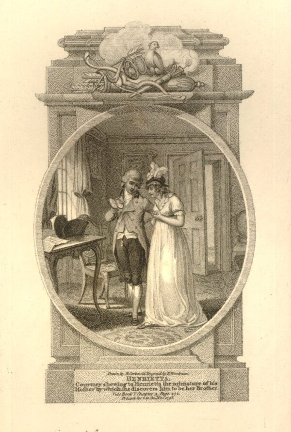 CORBOULD Richard (1757-1831) - 'Mr Courtney shewing to Henrietta their / mother's miniature picture / Book 5 Chap 4'.