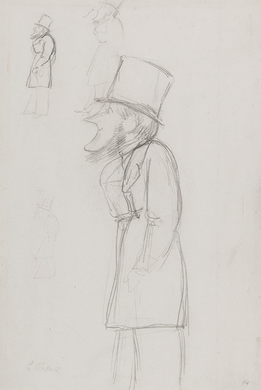 'APE' (Carlo Pellegrini) - Sketch for a caricature, possibly of 'G.