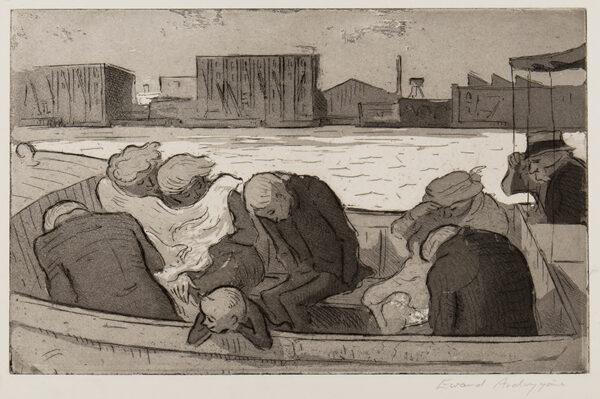 ARDIZZONE Edward C.B.E. R.A. (1900-1979) - 'The Boat to Greenwich (in Rain)' (NAP 22).