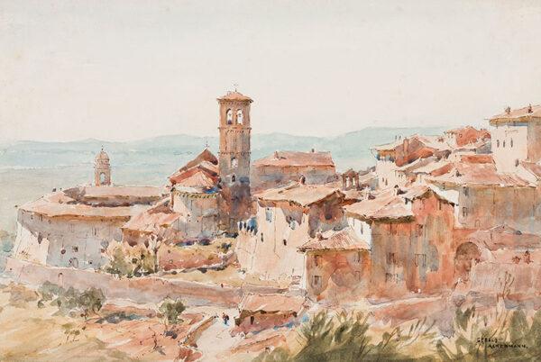 ACKERMANN Arthur Gerald R.I. (1876-1960) - 'Assisi: San Maddigore'.