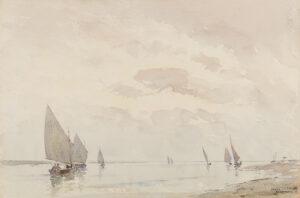 ACKERMANN Arthur Gerald R.I. (1876-1960) - 'A Calm Evening, Blakeney'.