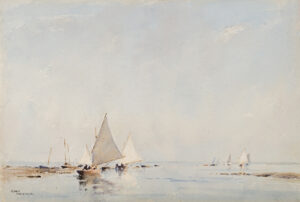 ACKERMANN Arthur Gerald R.I. (1876-1960) - 'Sailing – Blakeney'.