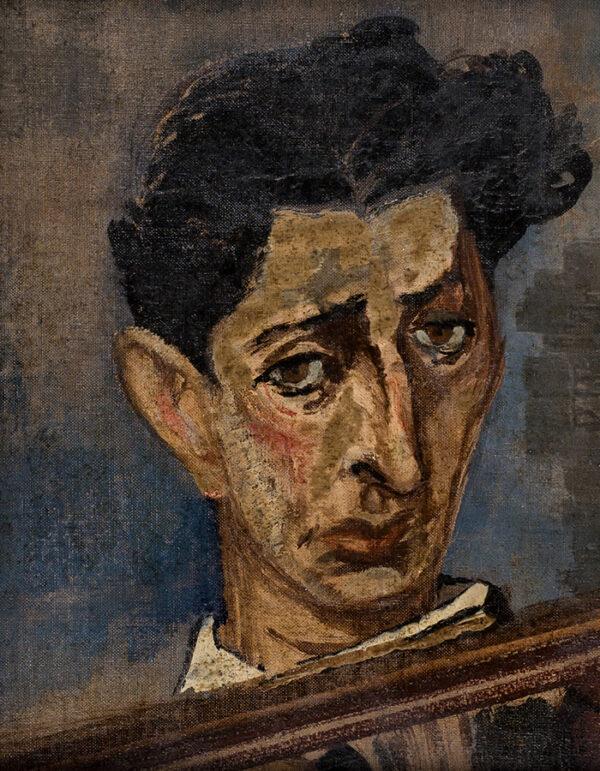 ADLER Jankel (1895-1949) - Portrait of the Composer, Eric Hudes (1920-2009) Oil canvas, on board.