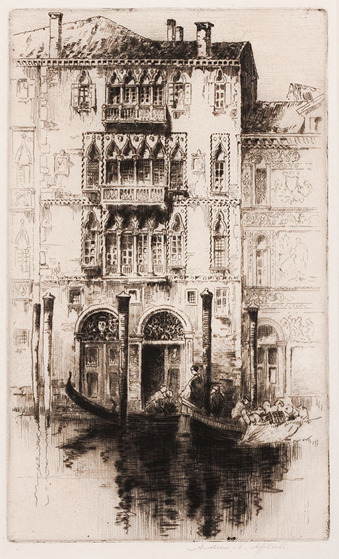 AFFLECK Andrew (1874-1935) - Venetian Palace.