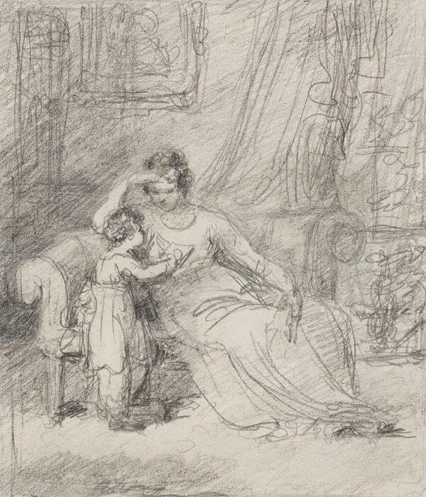 AGAR John-Samuel P.S.E. (1773-1858) - Mother and Child.