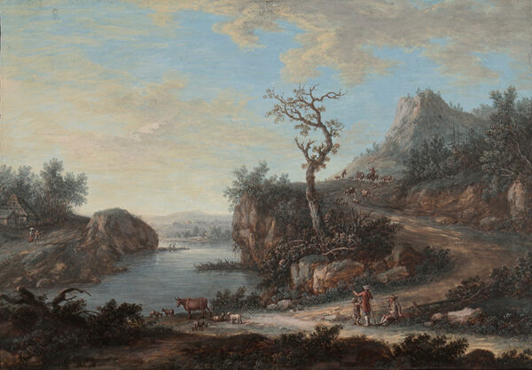 AGRICOLA Christoph Ludwig (1667-1719) - Lowland river.