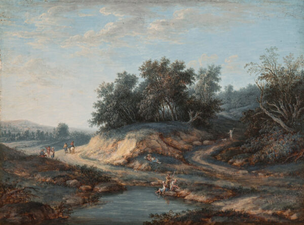 AGRICOLA Christoph Ludwig (1667-1719) (attributed to) - Figures on a country road.