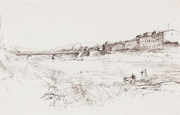 ALDRIDGE John R.A. (1905-1983) - On the Arno, Florence.