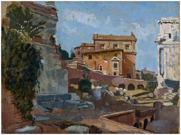 ALDRIDGE John R.A. (1905-1983) - 'San Giuseppe dei Falegnami', Rome.