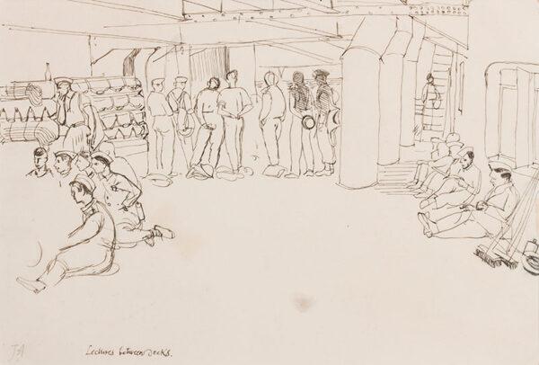 ALDRIDGE John R.A. (1905-1983) - North Africa; The Convoy Liverpool.