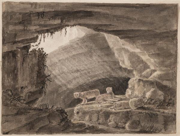 ALLAN bt. Sir Alexander (1764-1820) Attributed to - A tiger's den.