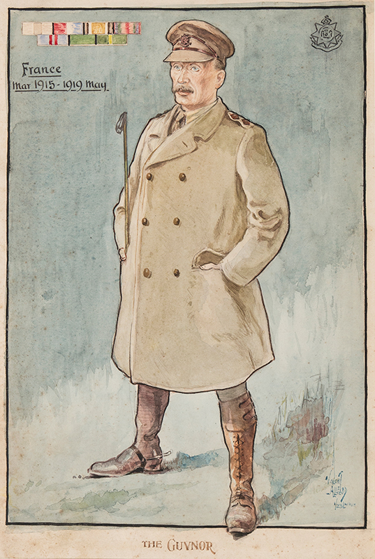 ALLFORD Vincent (1889-c.1924) - 'The Guvnor / France / March 1915-May 1919 / 1/23 London (Regiment)'.