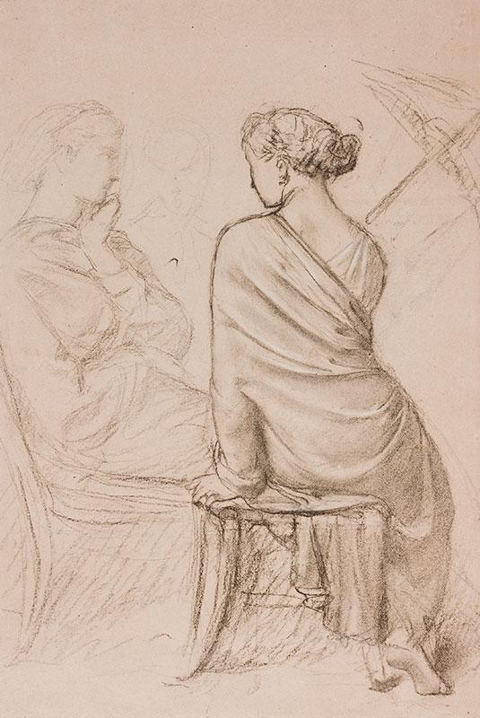 AMAURY DUVAL Eugene Emmanuel (1808-1885) - Study of seated figures.