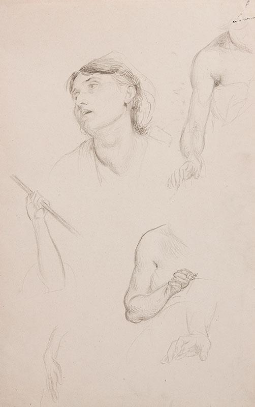 AMAURY DUVAL Eugene Emmanuel (1808-1885) - Study for 'Le jeu de boules' (Musee des Beaux Arts, Orleans).